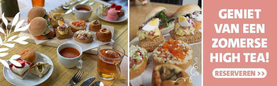 High Tea bij restaurant De Eetbare Tuin